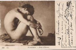 MUSEE DU LOUVRE PARIS ETUDE DE L´HOMME DE FLANDRIN HOMME NU CPA PEU COMMUNE - Museums