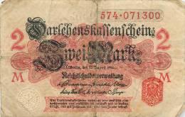 Billet Réf 211. Allemagne - 2 Mark - To Identify
