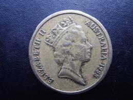 AUSTRALIA 1988 TWO DOLLARS  ABORIGINIE USED COIN GOOD CONDITION. - Decimal Coinage (1966-...)