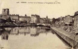 CPA 35 RENNES LE QUAI DE LA PREVALAYE ET VUE GENERALE DE LA VILLE - Rennes