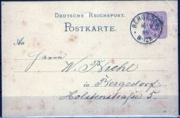 Bergedorf Auf PK DR Im Ortsverkehr 1885 - Bergedorf