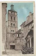 Cpa Bon Etat  , Carte Rare ,  Beaulieu Sur Dordogne , La Place Du Marché , Timbre Oblitéré , Flamme  , Courrier Verso - Frankreich