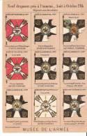 """Guerre 1914-1918- 9 Drapeaux Pris à L´ennemi-Déposés Aux Invalides-cachet """"Inter Arma Caritas """" (voir Scan) - Oorlog 1914-18"""