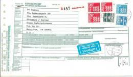 Denmark Adressekort 50 Kr´s Stamps Airmail - Dänemark