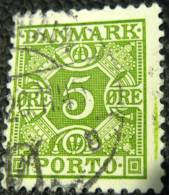 Denmark 1934 Postage Due 5ore - Used - Port Dû (Taxe)