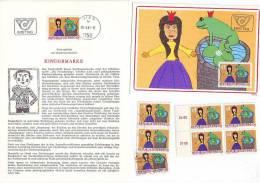 3011z17: Österreich 1981; Jugendmarke Froschkönig, **, Gest., Maximumkarte Und Ersttagsblatt - Märchen, Sagen & Legenden