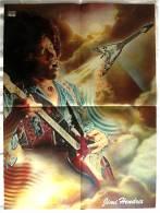 Musik Poster :  Jimmy Hendrix  -  Rückseitig Muppet Movie : Das Tier  -  Ca. 1982 Aus Der Pop Rocky - Plakate & Poster