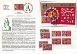 3011z26: Österreich 1981; Grazer Uhrturm- Südostmesse, **, Gest., Maximumkarte Und Ersttagsblatt - Uhrmacherei