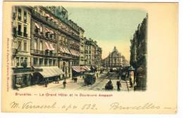 """Postkaart / Carte Postale """"Bruxelles / Brussel - Le Grand Hôtel Et Le Boulevard D´Anspach"""" - Avenues, Boulevards"""