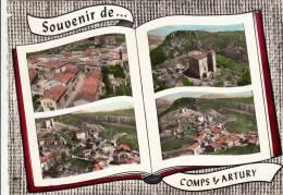 83 - Souvenir De Comps Sur Artuby - Vue Générale, Chapelle St André, Place Du Campos. CPSM - Comps-sur-Artuby