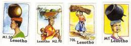 Lesotho / Taking Freight On Head / African Women Custom - Lesotho (1966-...)