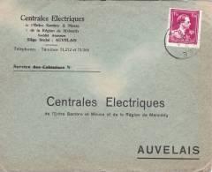 B02 - COB 691 - Enveloppe - Centrales Electriques - Auvelais - België
