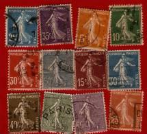 1991 >> Lots De 12 Timbres De FRANCE  Oblitérés - Sammlungen