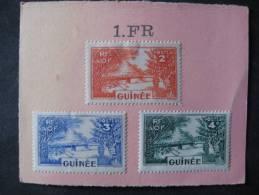 3 Marken RF Guinee Aus Altem Auswahlblatt -ungestempelt - A.O.F. (1934-1959)