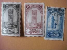 3 Marken Aus Altem Auswahlblatt -gestempelt/ Ungestempelt - Marokko (1891-1956)