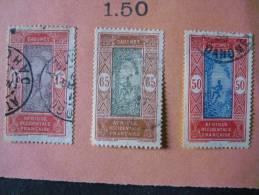 3 Marken Aus Altem Auswahlblatt -gestempelt - Dahome (1899-1944)