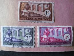 3 Marken Aus Altem Auswahlblatt -ungestempelt - A.E.F. (1936-1958)