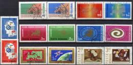 CEPT INTEREUROPA 1969/75 Rumänien 2764/5 2833/4 2919/0 3020/1 3120/1 3189/0 3258/9 O 19€ Wissenschaft Art Set Of Romania - 1948-.... Repúblicas