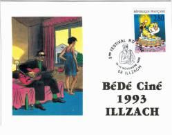 Illzach - 9ème Festival  Bédéciné 1993 - Timbre Joyeux Anniversaire - France