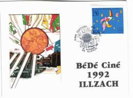 Illzach - 8ème Festival  Bédéciné 1992 - Timbre + Tampon - France