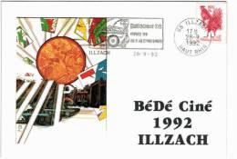 Illzach - 8ème Festival  Bédéciné 1992 - Timbre + Flamme - France