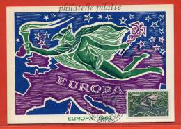 MONACO EUROPA PA N°79 FDC DU 06/06/1962 SUR CARTE MAXIMUM - Cartoline Maximum
