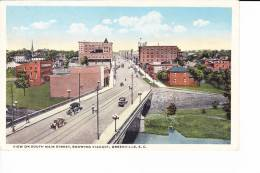 View On South Main Street, Showing Viaduct  -  GREENVILLE - Etats-Unis
