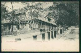 GIBRALTAR. Assembly Rooms. Old Postcard - Gibilterra