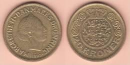 MONETA DA 20 CORONE DEL 1990 DELLA DANIMARCA CONDIZIONI COME DA IMMAGINE - Dominicana