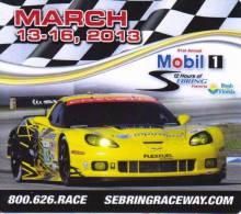 Sebring 12 Hour Sportscar Race 2013 - Chevrolet Corvette - Promotional Fridge Magnet - Transport