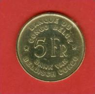 Congo Belge - 1947 - 5 Francs - Bonnetain - Congo (Belge) & Ruanda-Urundi