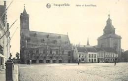 Belgique -ref A55- Nieuport Ville - Halles Et Grand Place - Editeur Nels -carte Bon Etat - - Nieuwpoort