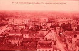 Diapositive, Slide : La Roche-sur-Yon, Du Côté Des Casernes En 1906 (Vendée, 85) Vue Aérienne - Orte