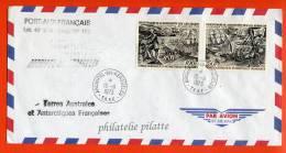 T.A.A.F PA N°27/28 SUR LETTRE DES KERGUELEN DU 15/11/1973 - Franse Zuidelijke En Antarctische Gebieden (TAAF)
