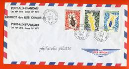 T.A.A.F N°49/51 SUR LETTRE DES KERGUELEN DU 26/04/1973 - Franse Zuidelijke En Antarctische Gebieden (TAAF)