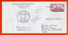 T.A.A.F MARION DUFRESNE LETTRE DE LA REUNION POSTEE A BORD DU 26/05/1975 - Franse Zuidelijke En Antarctische Gebieden (TAAF)