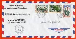 T.A.A.F LETTRE DES KERGUELEN DU 14/01/1974 - Franse Zuidelijke En Antarctische Gebieden (TAAF)