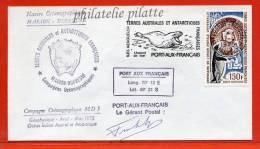 T.A.A.F MARION DUFRESNE LETTRE DES KERGUELEN DU 27/04/1975 - Franse Zuidelijke En Antarctische Gebieden (TAAF)