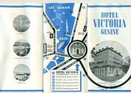 Brochure De Hotel VICTORIA à Genève - Pubblicitari