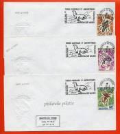 T.A.A.F N°40/42 SUR LETTRE DE MARTIN DE VIVIES DU 08/04/1975 - Franse Zuidelijke En Antarctische Gebieden (TAAF)