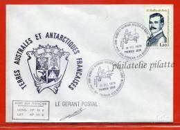 T.A.A.F FDC RALLIER DU BATY DES KERGUELEN DU 31/12/1978 - Franse Zuidelijke En Antarctische Gebieden (TAAF)