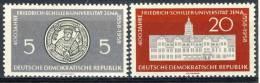 "1958 German Democratic Republic Cplt. MNH (**) Set Of 2 Stamps "" 400 Years Schiller University "" Michel 647-48 - Unused Stamps"