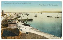 VILA REAL DE SANTO ANTONIO - Avenida Da Republica E Rio Guadiana. Carte Postale - Faro