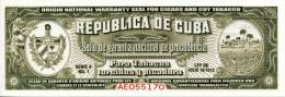 TOBACCO WARRANTY SEAL 14,5 X 5 CM - NEW AND UNUSED - Labels