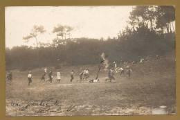 BELLE C.P.A PHOTO NON IDENTIFIEE - Une Partie De Foot-Ball - Sports - Football - Voyagée 1914 - Photos
