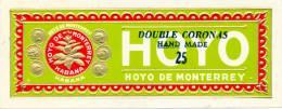 HOYO DE MONTERREY DOUBLE CORONAS LABEL - NEW AND UNUSED - Labels