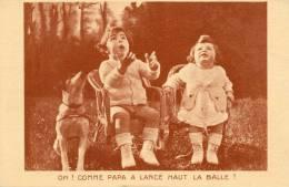 CPA . OH !  COMME  PAPA  A  LANCE  HAUT  LA  BALLE - Ritratti