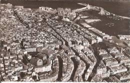 ALGER (ALGERIE) Vue Aérienne - Le Quartier Rovigo, La Cathédrale , La Mosquée , Le Port Et L'Amirauté    CPSM - Algiers