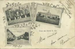 68 CPA Sierentz Sierenz Gruss Hopital Rue Parcbahnpost  Zug 217 Strasbourg Bale  Etat Moyen - France