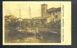 CERVIGNANO Del Friuli ( Udine) Barche Sull Aussa  Cartolina  Viaggiata  1916 Posta Militare COMANDO GENIO 3 Armata - Altre Città